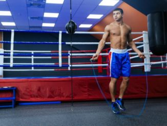 Boxeo, entrenando con cuerda