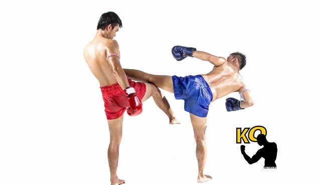Muay Thai entrenamiento duro de piernas.